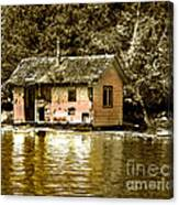 Sepia Floating House Canvas Print