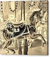 Sepia Horse Canvas Print