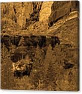 Sepia Red Rock Sedona Canvas Print