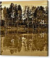 Sepia Reflection Canvas Print