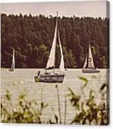 Sepia Sailing Canvas Print