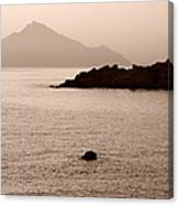 Sepia Seascape Canvas Print