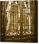 Sepia Spanish Door Canvas Print