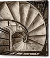 Sepia Spiral Staircase Canvas Print