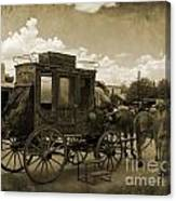 Sepia Stagecoach Canvas Print