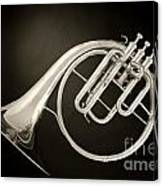 Sepia Tone Classic Antique French Horn 3022.01 Canvas Print
