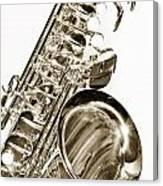 Sepia Tone Photograph Of A Tenor Saxophone 3356.01 Canvas Print
