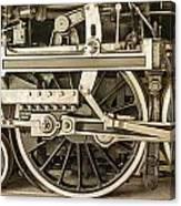 Sepia Wheels Canvas Print