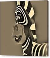 Sepia Zebra Canvas Print