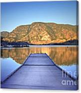 September 1st At Skaha Lake Canvas Print