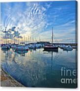 September Morning At Lyme Regis Canvas Print