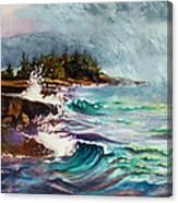 September Storm Lake Superior Canvas Print