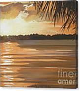 September Sunset 7 32pm Haulover Park Canvas Print