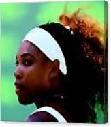 Serena Williams Match Point Canvas Print