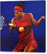 Serena Williams Painting Canvas Print
