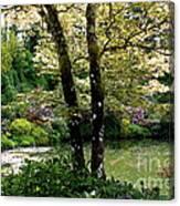 Serene Garden Retreat Canvas Print