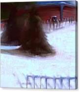 Serene New England Cabin In Winter #10 Canvas Print