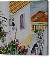Serene Villa Canvas Print