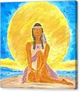 Sereneearth Peaceful Moon Canvas Print