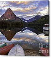 Serenity On Two Medicine Lake Canvas Print