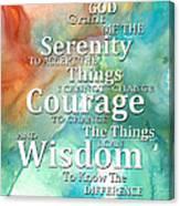 Serenity Prayer 1 - By Sharon Cummings Canvas Print
