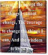 Serenity Prayer 1 Canvas Print