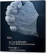 Serenity Prayer Finding Peace Canvas Print