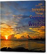 Serenity Prayer Sunset By Sharon Cummings Canvas Print