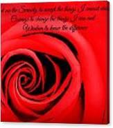 Serenity Rose Canvas Print