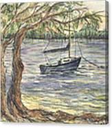 Serenity Sailboat Canvas Print