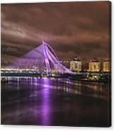 Seri Wawasan Bridge At Night Canvas Print