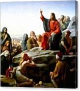 Sermon On The Mount Watercolor Canvas Print