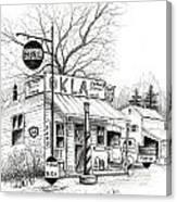 Service Station Canvas Print
