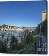 Sestri Levante And A Street Canvas Print