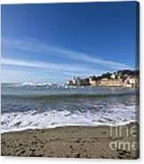 Sestri Levante And Beach Canvas Print
