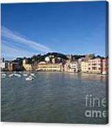 Sestri Levante With Blue Sky Canvas Print