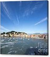 Sestri Levante With Clouds Canvas Print