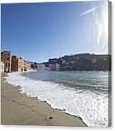 Sestri Levante With The Beach Canvas Print