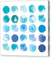 Set Of Colorful Watercolor Hand Painted Canvas Print