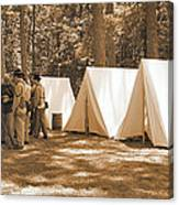 Settin Up Camp Canvas Print