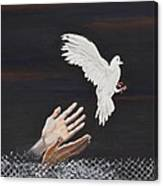 Setting Free-Inspirational painting Canvas Print