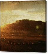 Setting Sun Abstract Canvas Print