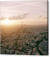 Setting Sun Over Paris Canvas Print