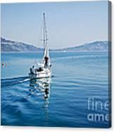 Setting The Sails Canvas Print