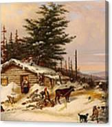 Settler's Log House Canvas Print