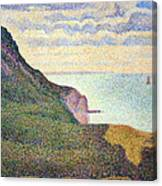 Seurat's Seascape At Port Bessin In Normandy Canvas Print