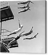 Seven Champion Diving In La Canvas Print