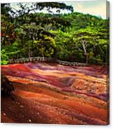 Seven Colored Earth In Chamarel 3. Mauritius Canvas Print