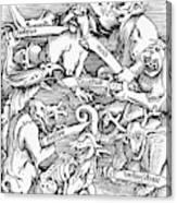 Seven Deadly Sins, 1511 Canvas Print