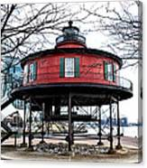 Seven Foot Knoll Lighthouse - Baltimore Canvas Print